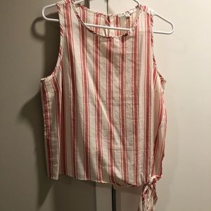 Madewell tank with tie at left hip. NWT sz S
